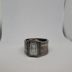 Chico's silver cuff watch
